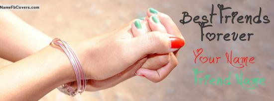 Me And You Best Friends Forever Facebook Cover Photo With Name