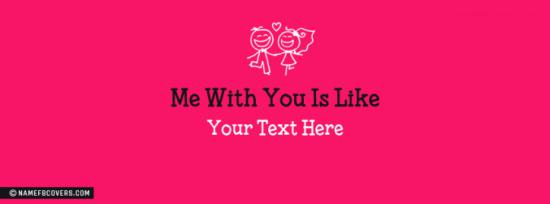 Me With You Facebook Cover Photo With Name