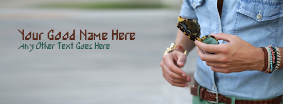 Men Fashion Facebook Cover Photo With Name