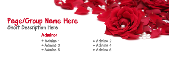 Red Rose Pearls Facebook Cover Photo With Name