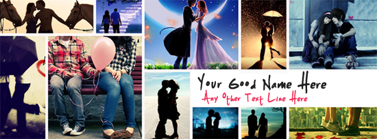 Romantic Couples Facebook Cover Photo With Name