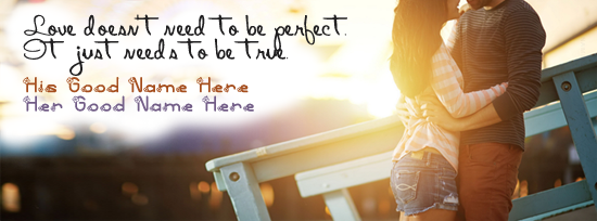 Romantic Stylish Couple Facebook Cover Photo With Name