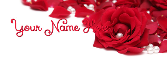 Rose Pearls Facebook Cover Photo With Name