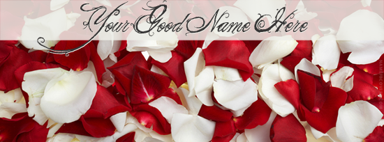 Rose Petals Facebook Cover Photo With Name