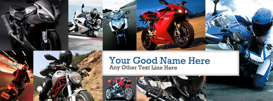Super Bikes Facebook Cover Photo With Name