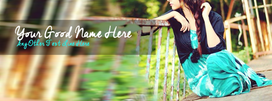 Unique Stylish Girl Facebook Cover Photo With Name