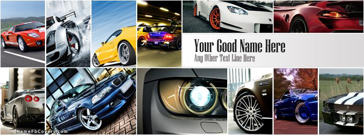 Beautiful Cars Facebook Cover With Name