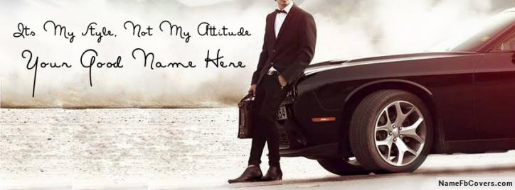 Best Stylish Attitude Boy Facebook Cover With Name