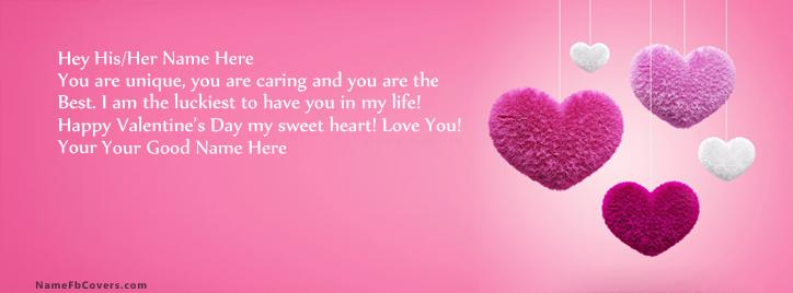 Best Valentine Day Facebook Cover With Name
