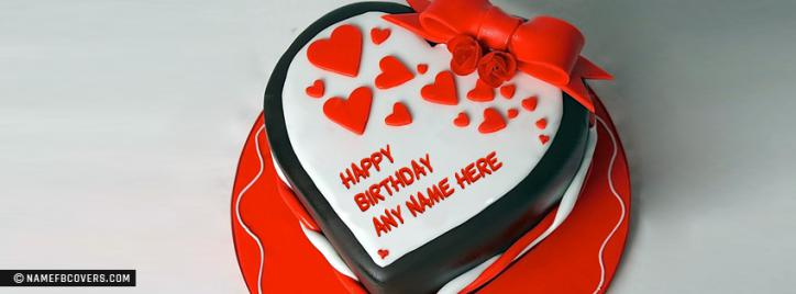 Birthday Cake Pics For Fb : Birthday Cake For Lover Facebook Cover With Name