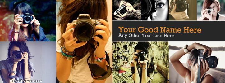 Camera Girls Facebook Cover With Name