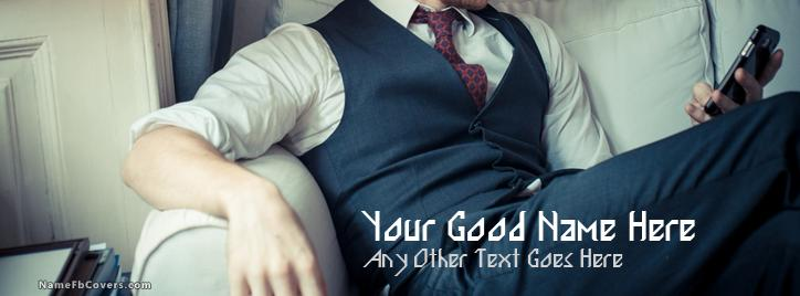 Classy Man Facebook Cover With Name