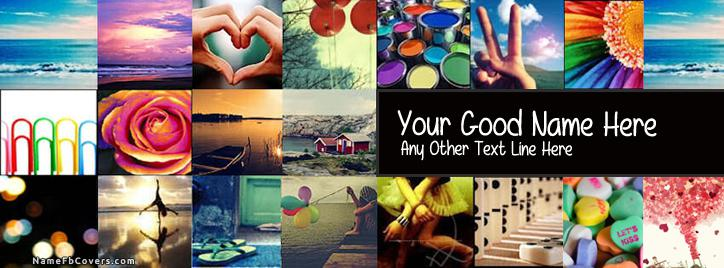 Colorful Life Facebook Cover With Name