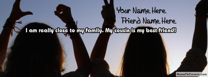Cousin Is My Best Friend Facebook Cover With Name