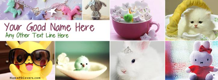 Cuteness Facebook Cover With Name