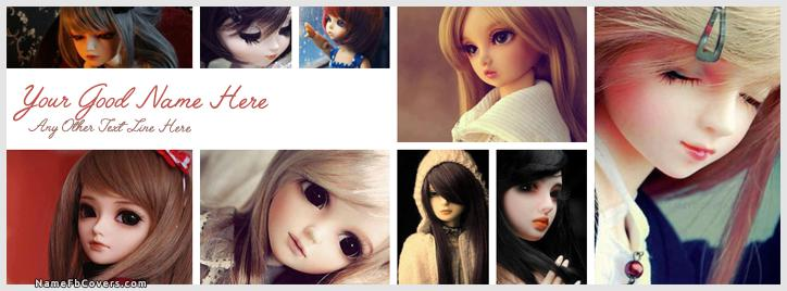 Cutest Dolls Facebook Cover With Name
