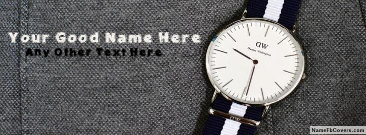 Daniel Wellington Watch Facebook Cover With Name