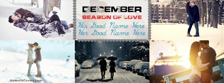 December Love Facebook Cover With Name