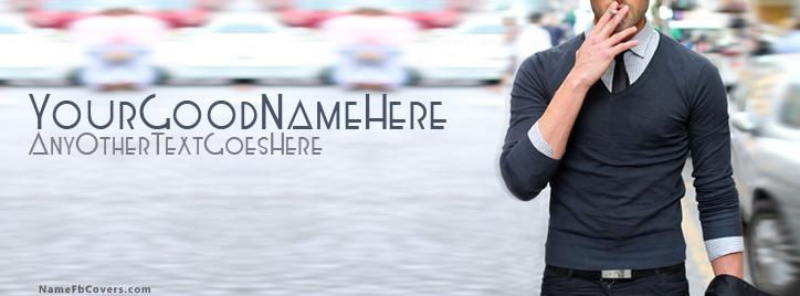 Decent Style Boy Facebook Cover With Name
