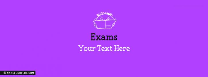 Exams Facebook Cover With Name