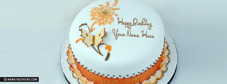 Birthday Cake Pics For Fb : Write Name On Happy Birthday Cakes FB Covers