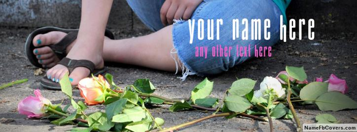 Name Facebook Covers For Girls - Flower Rejected Girl