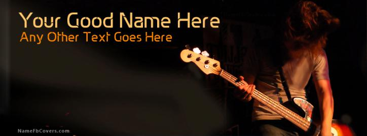 Guitar Lover Facebook Cover With Name