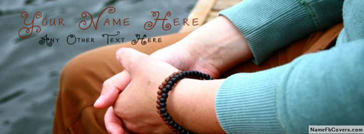 Guy bracelet Facebook Cover With Name
