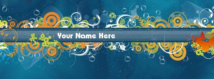 Abstract Art Facebook Cover With Name
