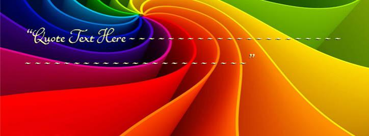 Abstract Rainbow Facebook Cover With Name