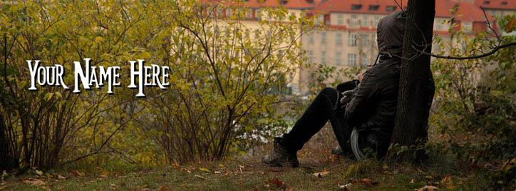 Alone Boy Facebook Cover With Name
