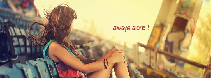 Always Alone Facebook Cover With Name