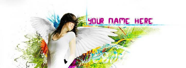 Angel Girl Facebook Cover With Name