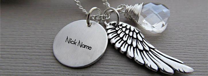 Angel Wing Necklace Facebook Cover With Name