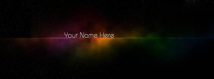 Art of Colors Facebook Cover With Name