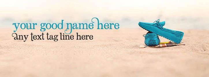 Beach Sand Facebook Cover With Name
