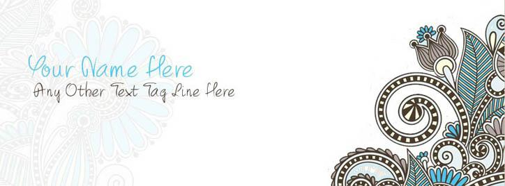 Beautiful Abstract Facebook Cover With Name