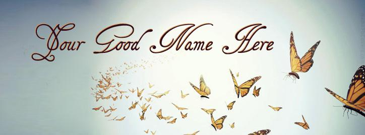 Beautiful Butterflies Facebook Cover With Name