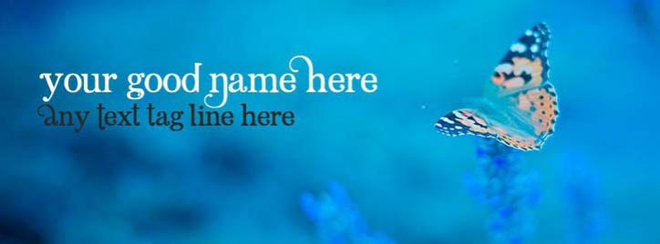 Beautiful Butterfly Facebook Cover With Name