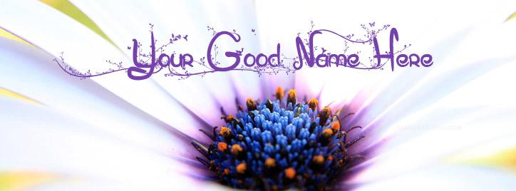 Beautiful Flower Eglantine Facebook Cover With Name