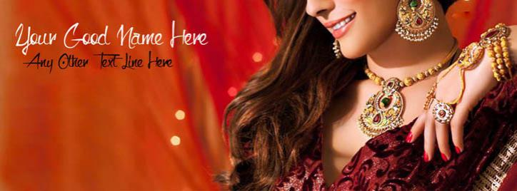 Beautiful Jewelry Girl Facebook Cover With Name