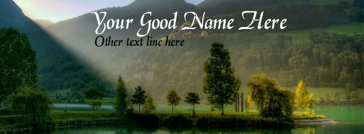 Beautiful Lake Facebook Cover With Name