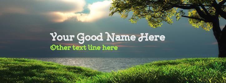 Beautiful Landscape Facebook Cover With Name