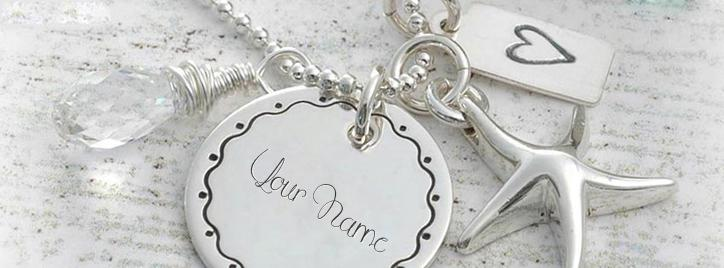 Beautiful Silver Pendant Facebook Cover With Name