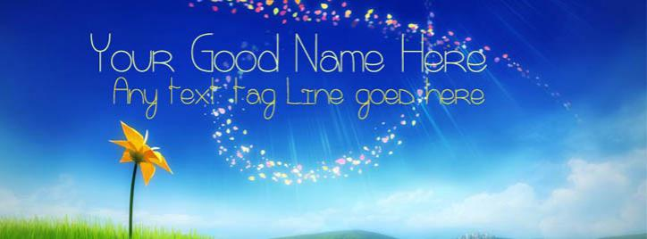 Beautiful Sky Facebook Cover With Name