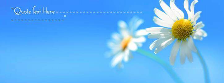 Beautiful White Flower Facebook Cover With Name