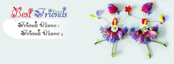 Best Friends Forever Facebook Cover With Name
