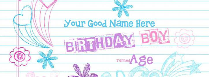 Birthday Boy Facebook Cover With Name