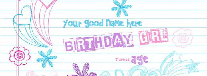 Birthday Girl Facebook Cover With Name