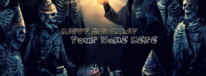 Birthday  Horror Mode Facebook Cover With Name